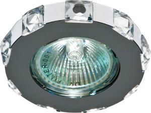 DL235, светильник потолочный,  MR16 G5.3 с прозрачным стеклом, хром