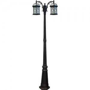 PL177, светильник садово-парковый, 60W 230V E27 черное золото