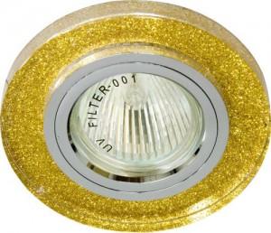 8060-2, светильник потолочный, MR16 G5.3 мерцающее золото, золото