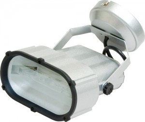 AL112, прожектор металлогалогенный с лампой и пускателем, 70W 230V R7S  титан
