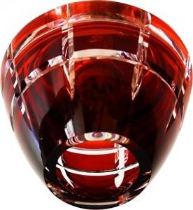 CD2112, светильник потолочный, JCD9 G9 с красным стеклом, с лампой