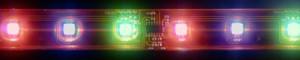 LS609, светодиодная лента влагозащищенная, цвет свечения: красный-зеленый-синий (широкая), 5m, 6.5W/m