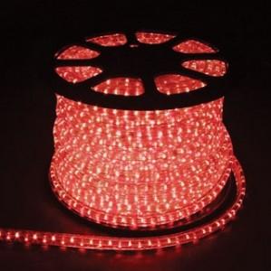 Дюралайт светодиодный, 3W 50м 230V 72LED/м 11х17мм, красный, LED-F3W