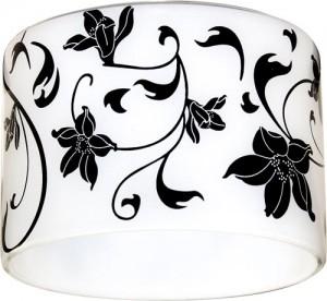 CD2037, светильник потолочный,  белый фон - черный рисунок, с лампой