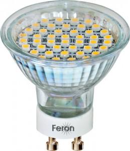 LB-24, лампа светодиодная, 44LED(3W) 230V GU10 6400K 44*50mm