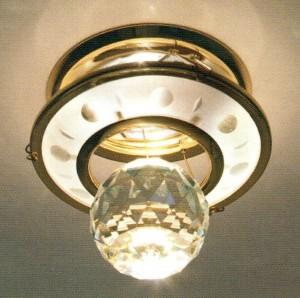 DL4171, светильник потолочный, золото (прозрачный)