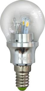 LB-40, лампа светодиодная, 6LED(3,5W) 230V E14 6400K маленький шар G45