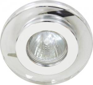 DL4162, светильник потолочный, JCDR 50W G5.3 прозрачный, хром (с лампой)