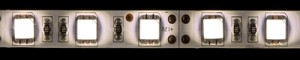 LS607, светодиодная лента влагозащищенная, цвет свечения: теплый белый, 5m, 14.4W/m, на белом основании