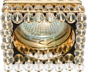 CD2131, светильник потолочный, MR16 G5.3 с прозрачным стеклом, золото