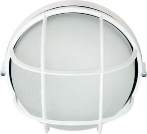 НПО11-100-02, светильник пылевлагозащищенный накладной, 230V Е27, белый