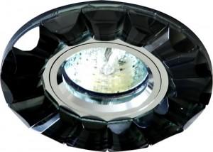 CD2510, светильник потолочный, MR16 G5.3 с черным стеклом, хром, с лампой