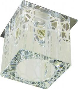 DL170, светильник потолочный, JCD 35W G9 прозрачный, хром (с лампой)