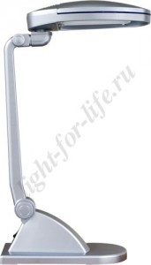 DE1130, светильник настольный, ESТ 2*9W 230V G23 серебро с лампами