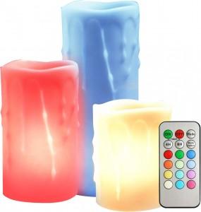 FL072, комплект круглых светодиодных свечей разной высоты