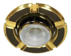 098-R50, светильник потолочный, черный-золото