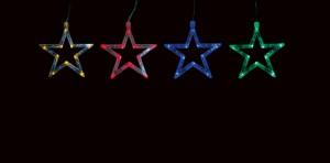 CL107 Гирлянда ленточная светодиодная звезды , многоцветные (RGB)
