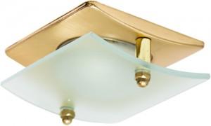 4720, светильник потолочный, R50 E14 со стеклом, матовое золото