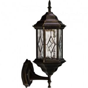 PL122, светильник садово-парковый, 60W 230V E27 черное золото
