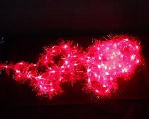 """CL40, гирлянда """"мишура"""", цвет свечения - красный"""
