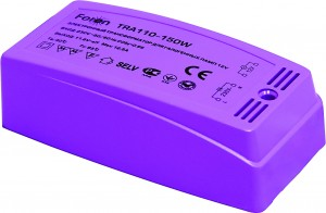 TRA110, трансформатор электронный понижающий, 230V/12V 150W пластик розовый