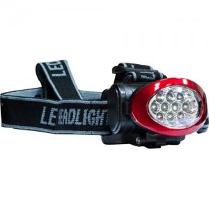 TH2250, фонарь налобный красно-черный аккумуляторный, IP44