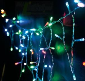 "CL14, гирлянда ""бахрома"", цвет свечения - мульти, кол-во подвесов - 25"