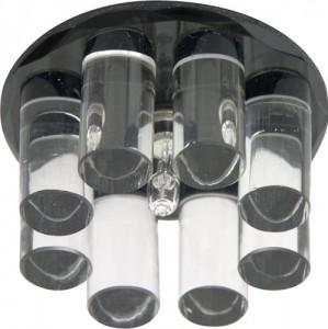 1301, светильник потолочный, JC G4 с черным стеклом, с лампой