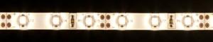 LS604, светодиодная лента влагозащищенная, цвет свечения: теплый белый, 5m, 4.8W/m, белое основание