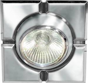 098T-MR16-S, светильник потолочный,  серый-хром