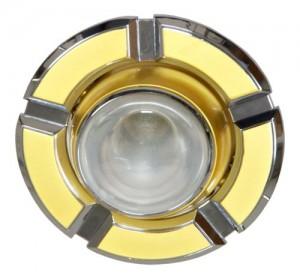 098-R50, светильник потолочный,  золото-хром