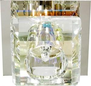 8843, светильник потолочный, JCD G9 с многоцветным стеклом, с лампой