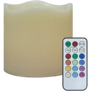 FL084, светодиодная свеча мультиколор