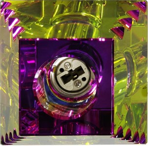 JD138-MC, светильник потолочный, JCD 40W G9 многоцветный, золото