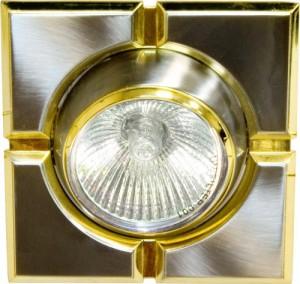 098T-MR16-S, светильник потолочный,  титан-золото