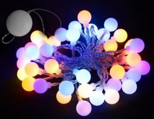 """CL556, гирлянда """"шарики"""" на присоске, цвет свечения - мульти, работает от батареек"""