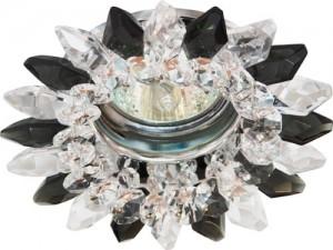 CD2315, светильник потолочный, MR16 G5.3 с прозрачным-серым стеклом, хром, с лампой