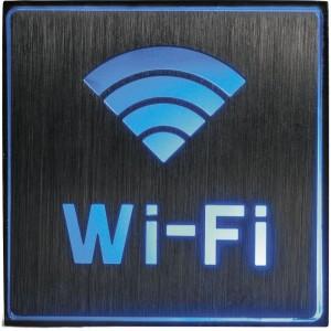 "EL51, светильник аккумуляторный, 1 LED/1W 230V, AC ""Wi-fi"" синий 110*110*20 mm, серебристый"