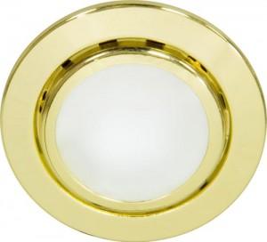 А014, светильник мебельный, JC G4.0 золото, с лампой