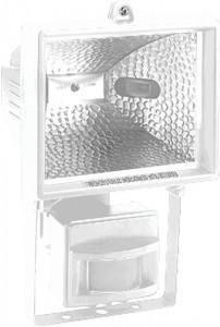 GL2402/FL24, прожектор с датчиком 500W 230V R7S с лампой, белый