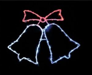 """LT013 Светодиодная новогодняя фигура """"колокольчики"""" красный+белый+синий"""