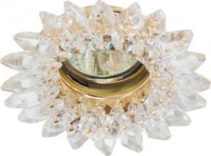 CD2315, светильник потолочный, MR16 G5.3 с прозрачным стеклом, золото, с лампой