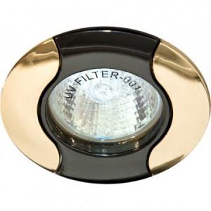 020Т-MR16, светильник потолочный,  черный-золото