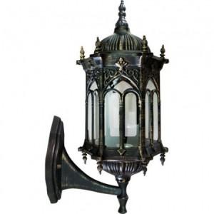 PL112, светильник садово-парковый, 60W 230V E27 черное золото