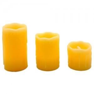 FL076, светодиодная свеча, набор из 3 свечей разной высоты