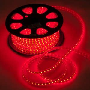 LS707/LED-RL, светодиодная лента, 60SMD(5050) 14,4W/m 220V IP68, длина 50m, 14mm*8mm, красный