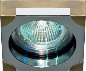 DL192, светильник потолочный,  MR16 G5.3 бронза и хром