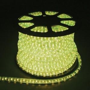 Дюралайт светодиодный, 2W 100м 230V 36LED/м 13мм, лимонный, LED-R2W
