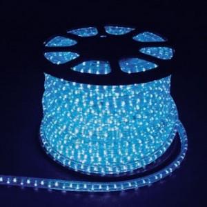 Двухжильный дюралайт светодиодный, 2W 100м 230V 36LED/м 13мм, синий, LED-R2W