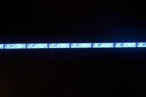 LS607, лента светодиоднаявлагозащищенная, цвет свечения: синий на белом основании, 5м 7.2W/m